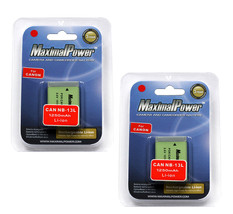 2x Camera Batteries For CANON NB-13L NB13L PowerShot G7 X G7X 1250mAh BA... - $34.54