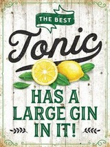 The Best Tonic Has A Large Gin In It! G&T Glaçon Slice Small Metal/ - $7.19