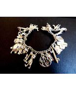 "Sterling Silve 23 charms 60g Charm Link Bracelet 7"" Travel Good Luck Pin... - $316.80"