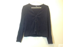 New York & Co Black Button Up Cardigan Sz LG