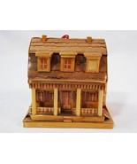 Meow Reo Balsa Wood & Wheat Straw 2 Story House Porch Ornament Vtg 1988 ... - $17.81