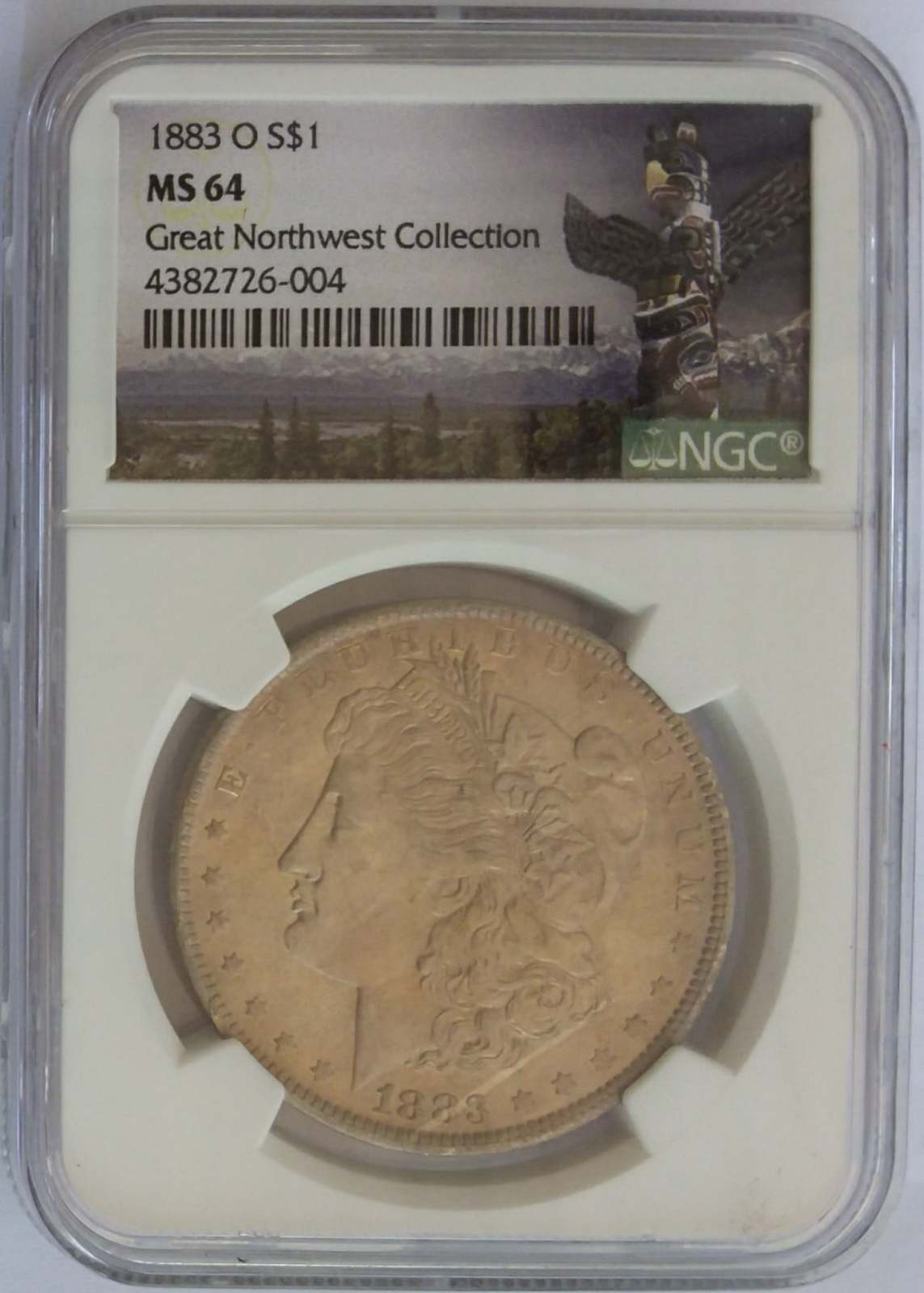1883 O MS64 NGC GREAT NORTHWEST COLLECTION1883