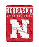 "The Northwest Company NCAA Nebraska Cornhuskers NCAA Basic 60"" by 80"" Ra... - $36.62"