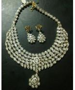 Estate/Vintage Inspired 26.75Ctw Antique Cut Diamond Silver Polki Neckla... - $4,726.00