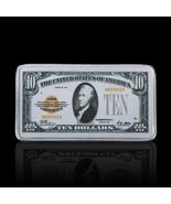 WR 1928 $10 Gold Certificate US Banknote Silver Bullion Ingot Bar Birthd... - $4.03