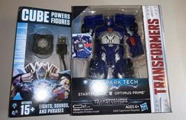 Hasbro Transformers Allspark Tech Starter Pack BLUE OPTIMUS PRIME with C... - $19.95