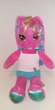 "Build A Bear Singing Honey Girl HG Risa Pink Rock Star Bunny Rabbit Plush 22"" - $14.84"