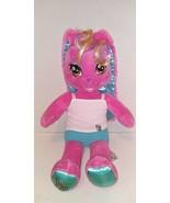 Build A Bear Singing Honey Girl HG Risa Pink Rock Star Bunny Rabbit Plus... - $14.84