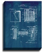 Cigarette Case Patent Print Midnight Blue on Canvas - $39.95+