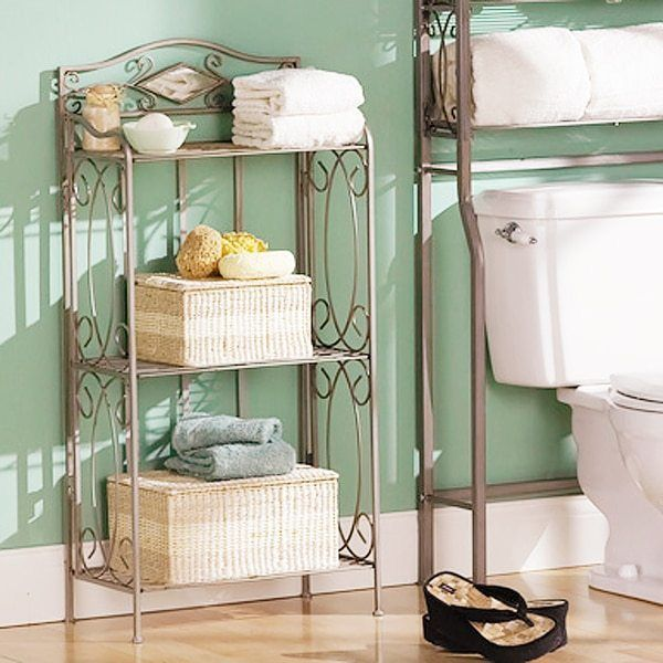 3 Tier Tower Shelf Bathroom Rack Storage Organizer Durable Metal Frame for sale  USA