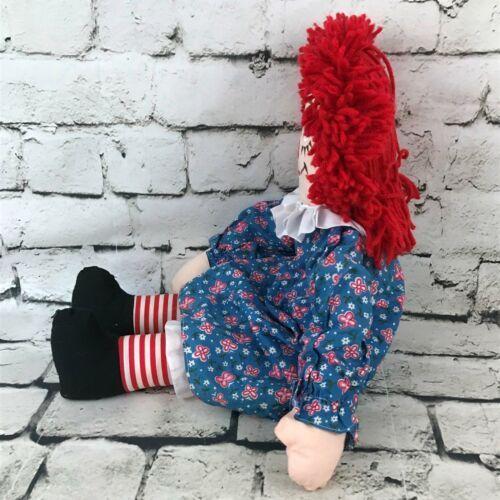 Applause Raggedy Anne Plush Classic Retro Rag Doll Red Yarn Hair Stuffed Toy image 4
