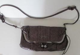 Jessica Simpson fold over metallic violet baguette, purse - $24.75