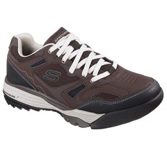 51800 Brown Skechers shoes Men Memory Foam Sport Train Comfort Casual Tr... - $39.99