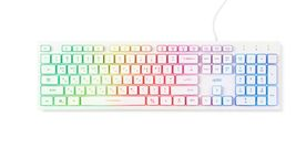 Actto Korean English USB Wired Keyboard LED Backlight Membrane Keyboard (White) image 4