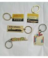 Souvenir Caribbean Cruise Ship Key Chain Ring Mixed Lot of 5  Metal Enamel - $14.84