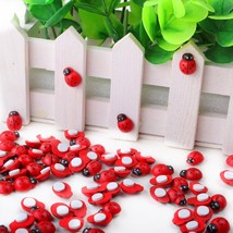 1pack Red Mini Wooden Ladybug Sponge Self-adhesive Stickers - $11.95