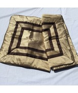 "2 King Pillow Shams Brown Gold Boulevard Croscill 20"" x 36"" 100% Polyester - $29.02"