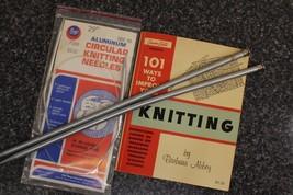 Boye Aluminum Circular Knitting Needles size 10, size 11 needles, Barbara Abbey - $15.00