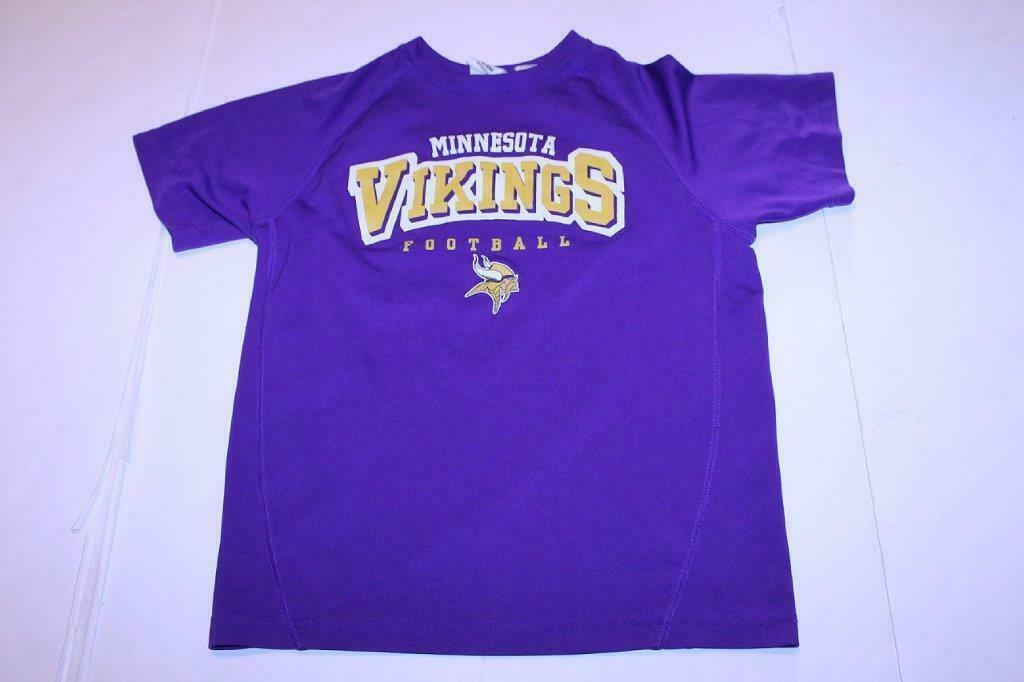 Primary image for Youth Minnesota Vikings L (10/12) Athletic Jersey Shirt (Purple) NFL Team Appare