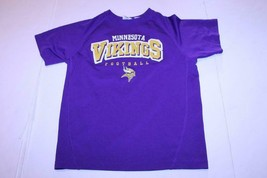Youth Minnesota Vikings L (10/12) Athletic Jersey Shirt (Purple) NFL Tea... - $12.19