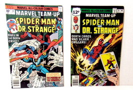 MARVEL TEAM UP SPIDER-MAN DR. STRANGE LOT OF 2 BRONZE AGE COMIC BOOK - $8.95