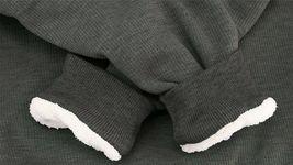 Men's Heavyweight Thermal Zip Up Hoodie Warm Sherpa Lined Sweater Jacket image 9