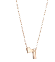 Fashion Tiny Heart Dainty Initial Personalized Letter Name Choker Necklace - $8.00