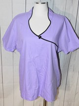 Dickies Women's Purple Short Sleeve Scrub Shirt Size XL - $19.79