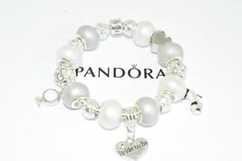 Authentic Pandora Charm Bracelet European Bead Bride to be Engagement Gift - $119.00