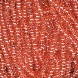 Seed bead rocaille full hank orange 6