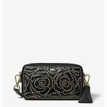 NWT Michael Kors Small Rose Studded Leather Camera Bag Black - $155.00