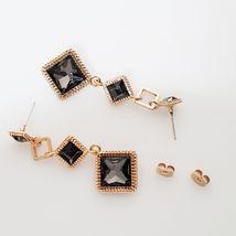 SE50 Women Diamond Shape Drop Earrings Made with Swarovski Crystal  Silver 925 image 5