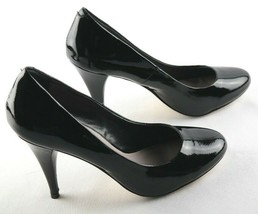 Steve Madden Unityy Pumps Sz 8.5 Black Patent High Heel Womens Shoes - $25.19