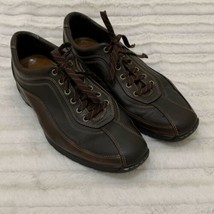 Cole Haan Driver Oxford Casual Shoes Sneakers Mens Size 10 Leather Brown - $37.99