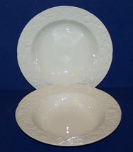 Beautiful MIKASA White ENGLISH COUNTRYSIDE Pair of Large Rim Soup Bowls - $16.35