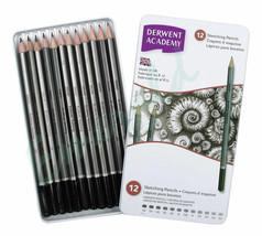 Derwent Academy SKETCHING Pencils Tin of 12 6B-5H Same Day Dispatch - $9.93