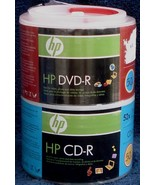 Combo Pack 50 CD-R/50 DVD-R - HP Brand - BRAND NEW IN PACKAGE - $34.64