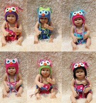 New Knit Crochet Baby Nighthawk Owls Hat & Nappy Cover Newborn Photo Pro... - $11.99