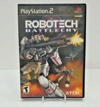 Robotech Battlecry Sony PlayStation 2 PS2 - $7.70