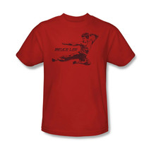 Bruce Lee T-shirt Flying Kick Free Shipping retro Enter Dragon cotton tee BLE157 image 2