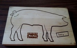"""MoorMans Feed Advertising Cutting Board Quincy ILL ARNOLD PIG Tylan 15"""" ... - $52.35"""