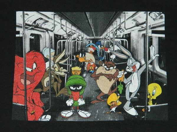 NEW UNWORN Looney Tunes Tweety Bird as a Zombie Black T-Shirt