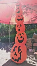 Airblown Halloween Inflatable Stack Of Skinny Pumpkins 9 Foot Tall Used - $89.09