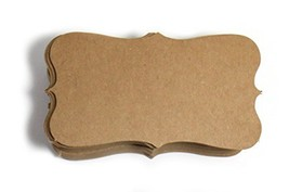 Kraft Paper Business Cards 100 Paper K04- Blank - $8.77