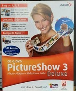 Ulead Pictureshow 3 Photo album & sideshow suite deluxe CD-ROM software  - $31.78