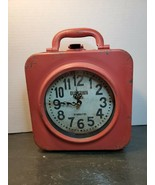 Rustic Old Towne Clock Briefcase 67 Bailey St Metal Case Dual Time Two Z... - $156.41