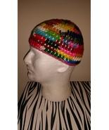 Multi Color Handmade Crochet Skull Cap  - $15.00
