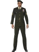 "WARTIME OFFICER, MILITARY, ARMY FORCES FANCY DRESS, UNIFORMS, CHEST 38""-... - $99.25"