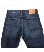 Levis 751 Classic Straight Jeans Men's 32x31 Blue Destroyed Distressed Denim  - $41.44