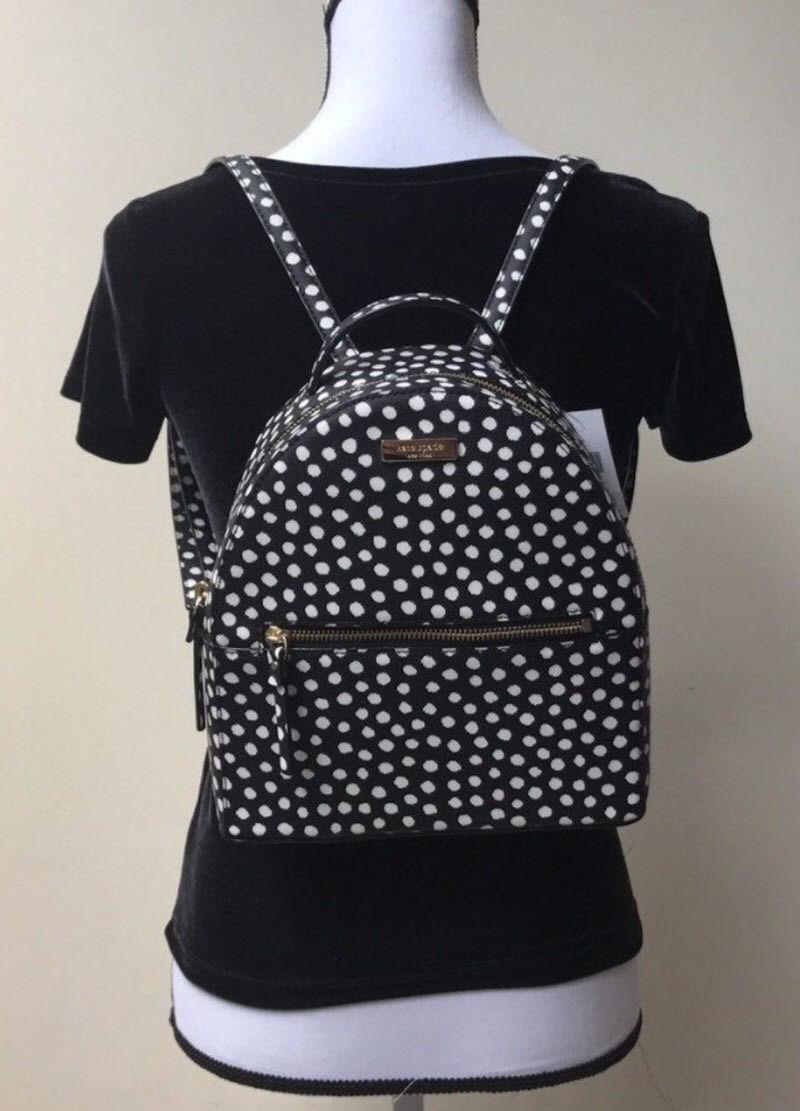 Kate Spade Wilson Road Musical Dots Small Bradley Backpack Laptop Book WKRU4737